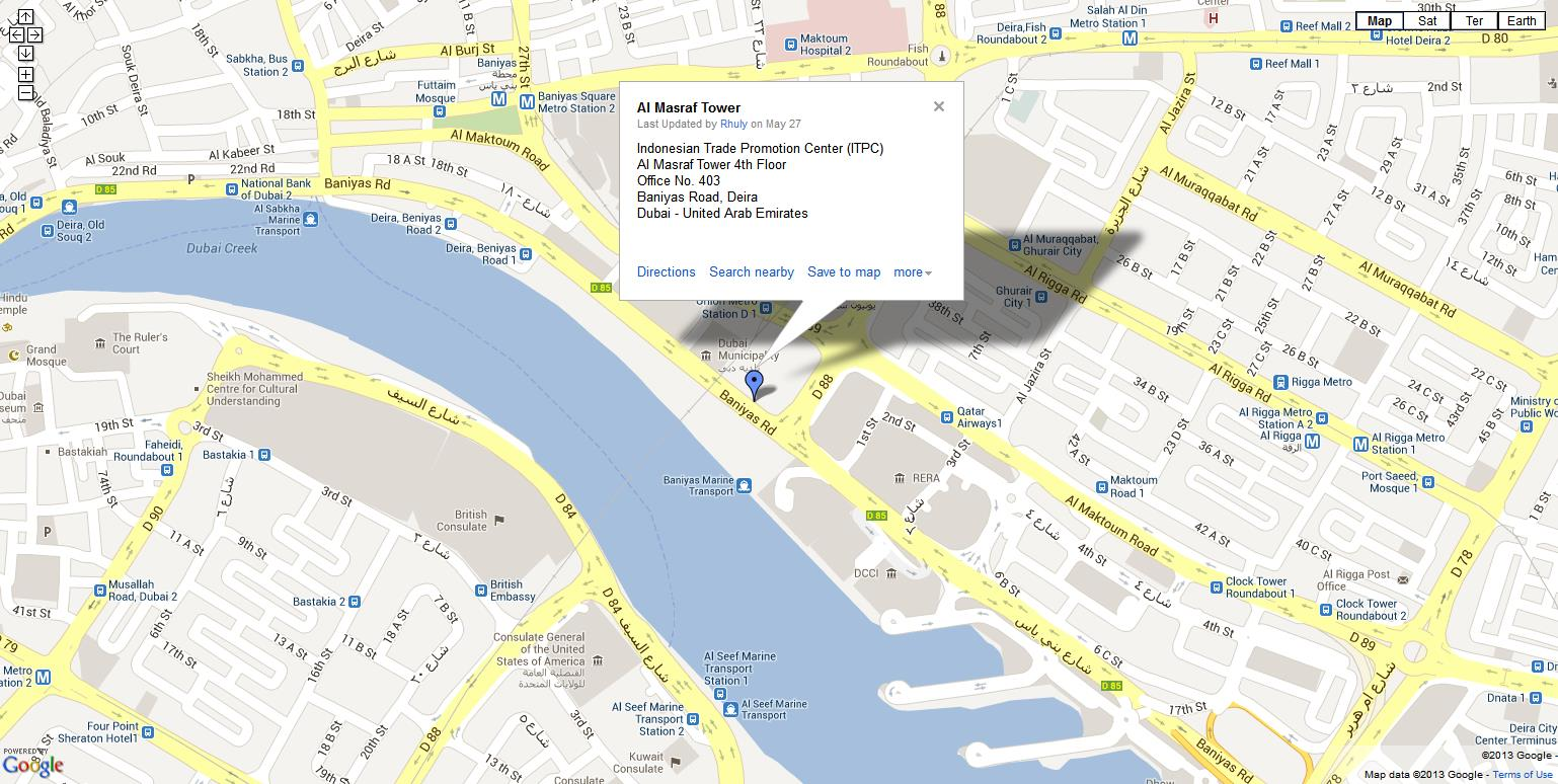 Contact Us ITPC Dubai - Us consulate dubai map